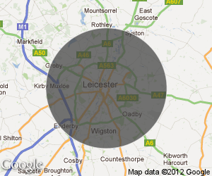 Mobile Mechanic Leicester Coverage Map
